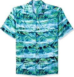 08f41b0d Cubavera Men's Short Sleeve 100% Rayon Point-Collar Abstract-Print Shirt