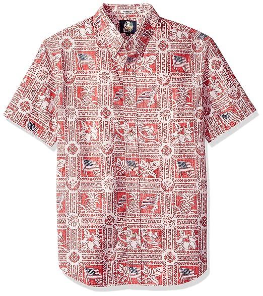7e87fd6bcd5 Reyn Spooner Men s Summer Commemorative Weekend Washed Tailored Fit Shirt