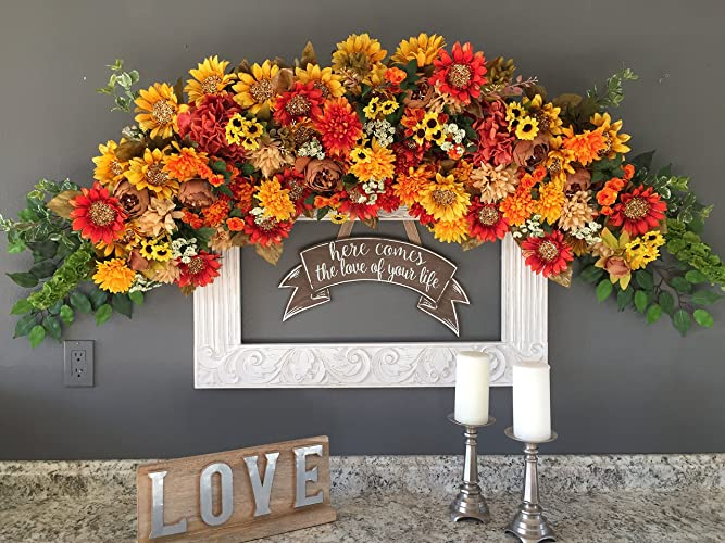 Amazon sunflower wedding archway decor sunflower wedding decor sunflower wedding archway decor sunflower wedding decor rustic wedding flowers sunflower floral swag junglespirit Image collections