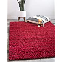 Unique Loom Solo Solid Shag Collection Modern Plush Snow White Runner Rug