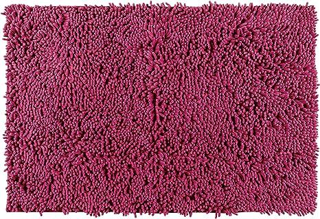 WENKO Badteppich Chenille Raspberry Rot Duschmatte Frottier 50 x 80 unben B-Ware