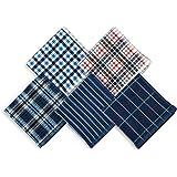LEGACY WORLD ガーゼハンカチ ハンカチ メンズ タオルハンカチ 紳士 ビジネスマン コットン 5枚セット