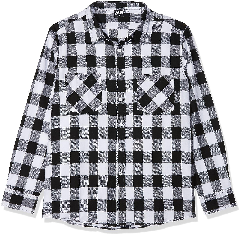 TALLA 5XL. Urban Classics Checked Flanell Shirt Camisa para Hombre