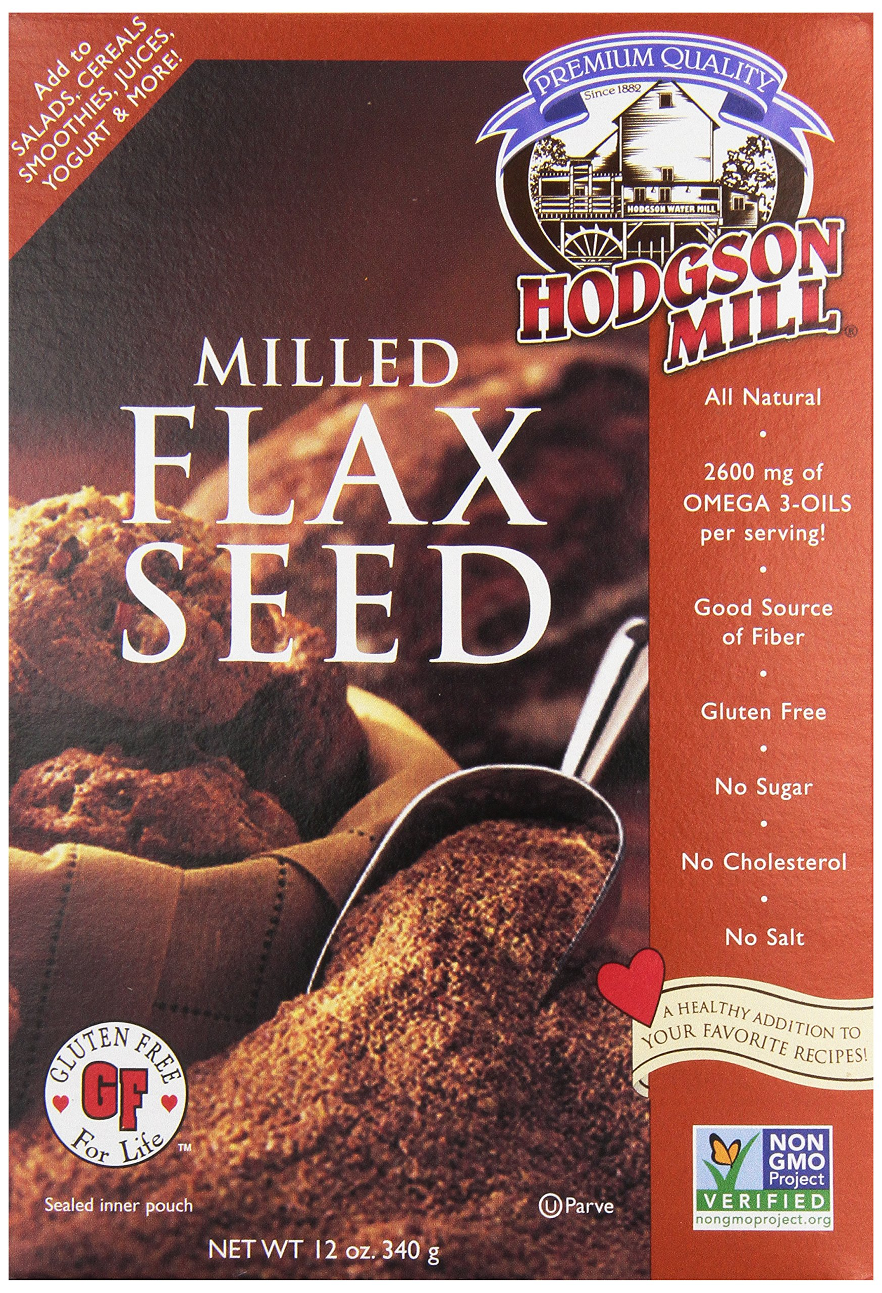 Hodgson Milled Flax Seed, 12 oz