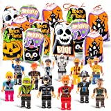 Halloween Trick Or Treat Goodie Bags with Mini Toy Figure Toys, Colorful Novelty Goody Assortment For Kids Party Favors and Filled School Prizes Giveaways