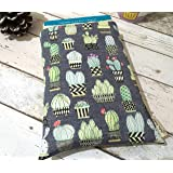 Cactus Book Cover - Unique Book Buddy, Padded Paperback Sleeve, Book Lover Gift