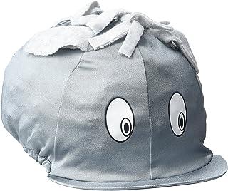 Dada en Lycra Tête de mort Housse/chapeau en soie. fonctions Dessin animé Cheval visage avec des oreilles de feutre, crinière et yeux. Parfait pour une Bombe d'équitation pour enfant.