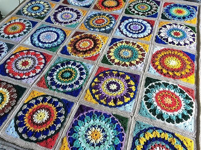 Amazoncom Crochet Throw With Cushion Cover Crocheted Afghan