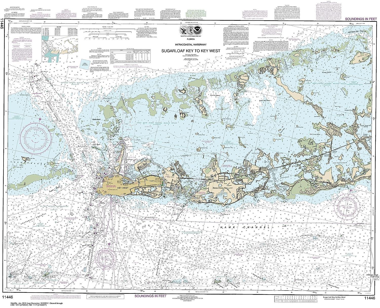 Florida Intracoastal Waterway Map.Amazon Com Noaa Chart 11446 Intracoastal Waterway Sugarloaf Key To