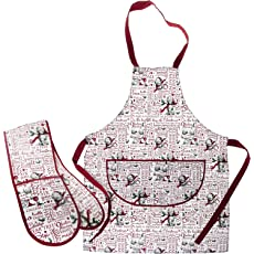 Me To You Bears Christmas Apron & Oven Glove Set
