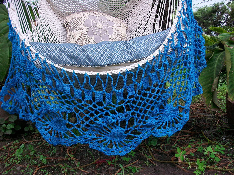 Amazon Beautiful Hammock Chair Crochet With Beige And Light