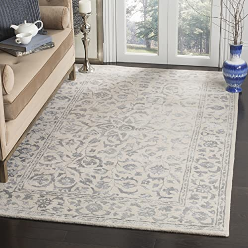 Safavieh Glamour Collection GLM515A Silver and Ivory Area Rug, 9 x 12