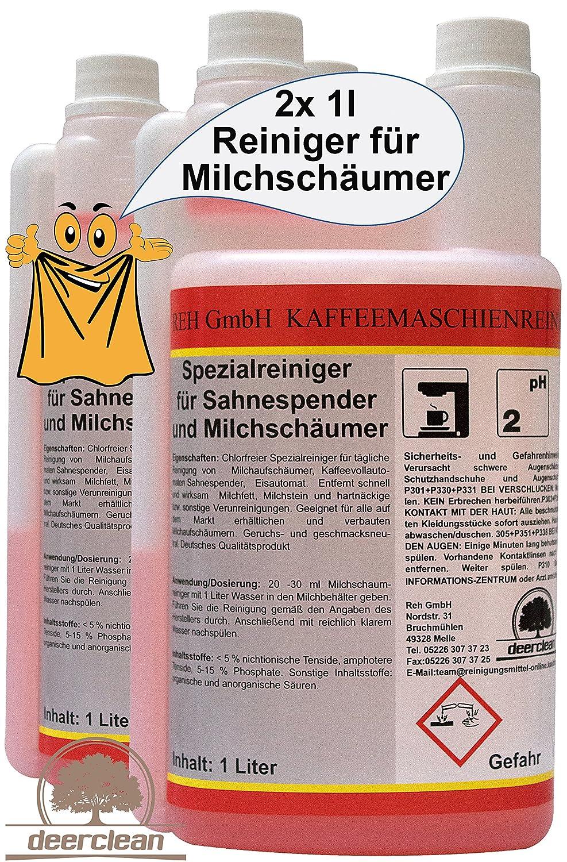 2 x 1liter (2000ml) limpiador para dispensador de nata y leche espuma limpiador de boquillas: Amazon.es: Hogar