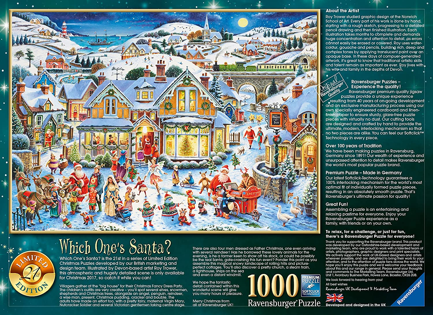 Amazon Ravensburger Which Ones Santa 1000pc 2017 Limited