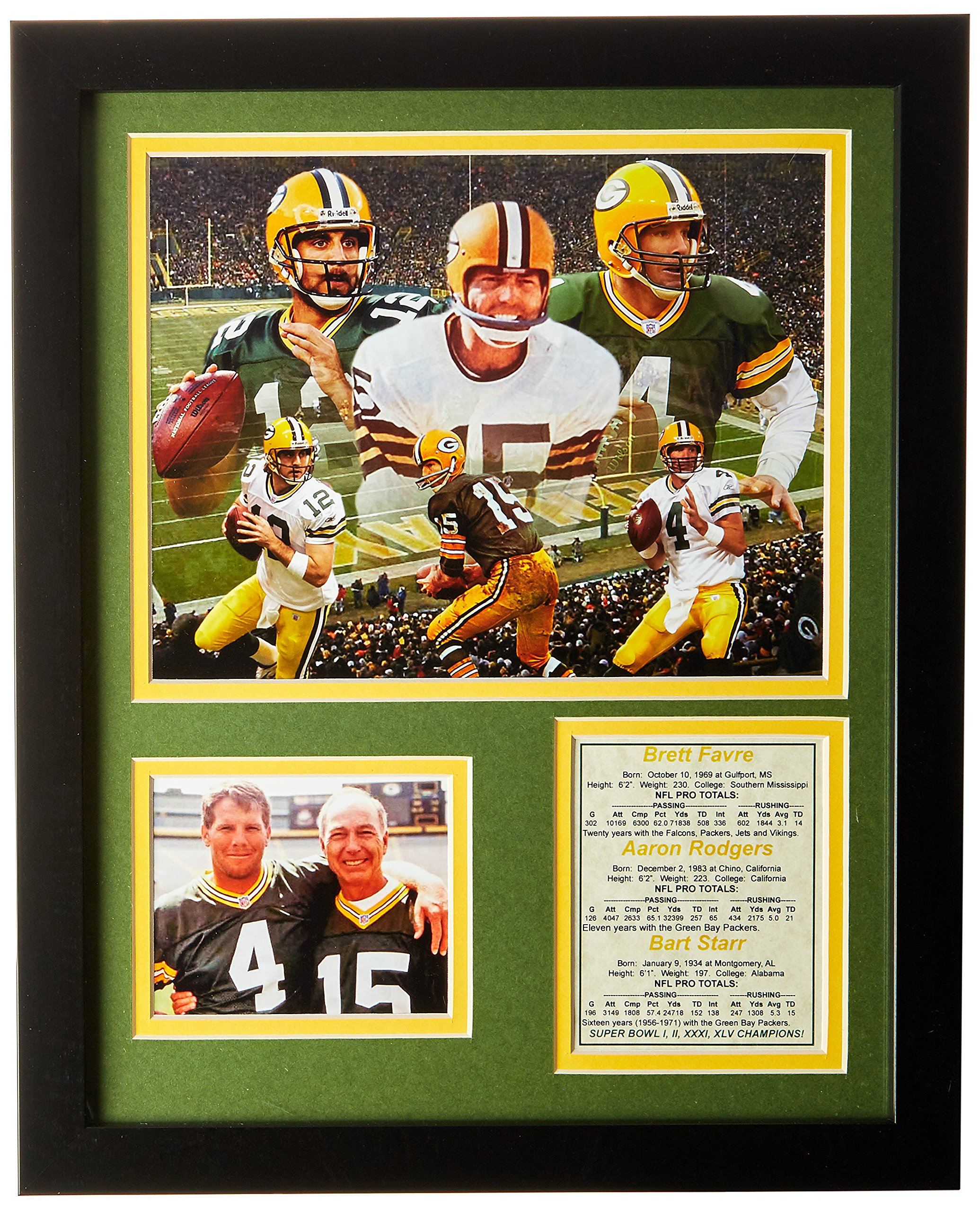 Legends Never Die Green Bay Packers QB's Framed Photo Collage, 11x14-Inch by Legends Never Die