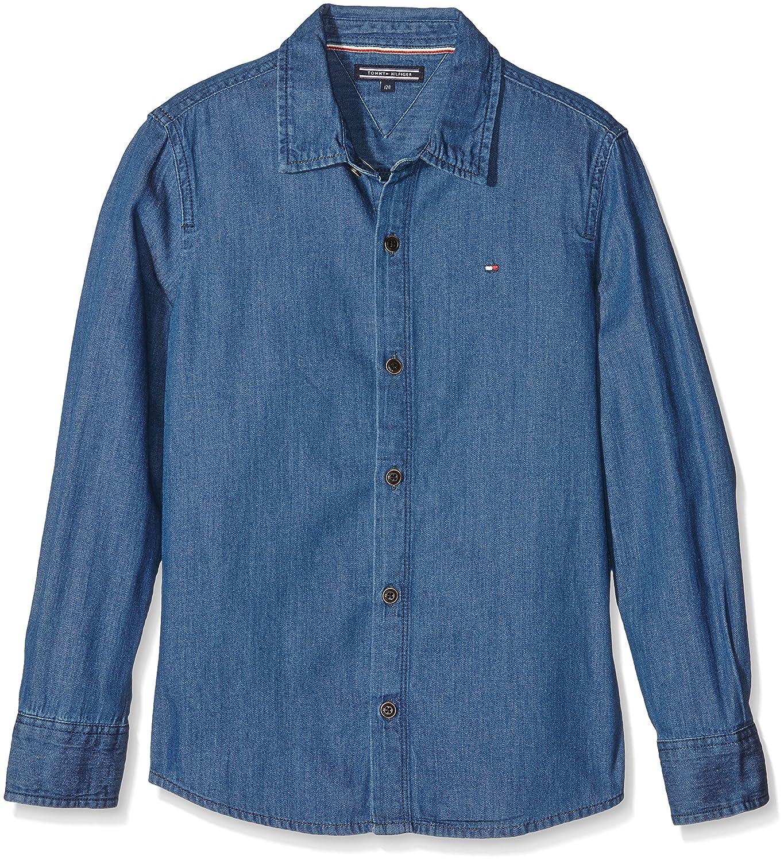 Tommy Hilfiger Jungen Hemd Blue Denim Shirt L/s