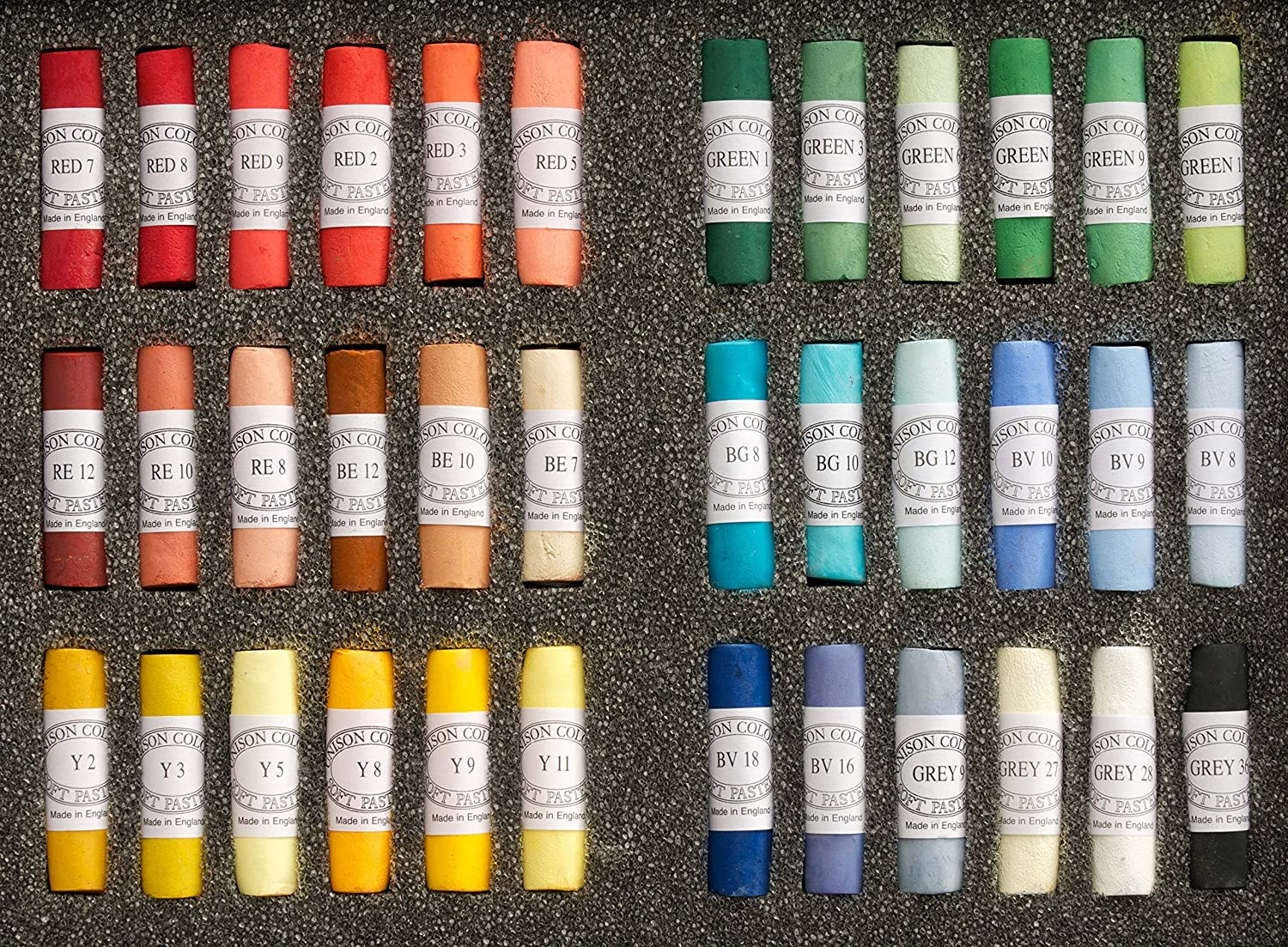 Unison Colour Soft Pastels Hand Made Starter 36 Set by Unison Colour Unison Colour Ltd UC-111