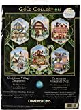 Dimensions Gold Collection Christmas Village Counted Cross Stitch Ornament Kit, 6 pcs