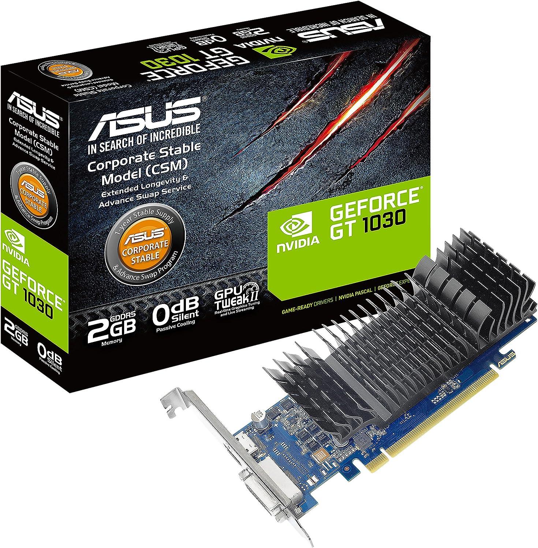 Asus GeForce GT 1030 2GB GDDR5 HDMI DVI Graphics Card (GT1030-2G-CSM)