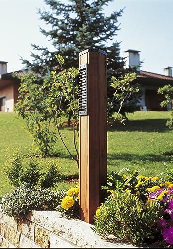 Lampione Palo Moderno Per Esterno H90 Cm In Legno Attacco E14 Ip55