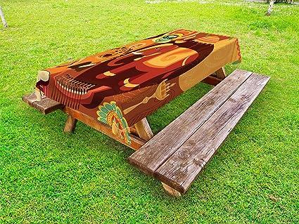 Wondrous Amazon Com Lunarable Kerala Outdoor Tablecloth Bralicious Painted Fabric Chair Ideas Braliciousco