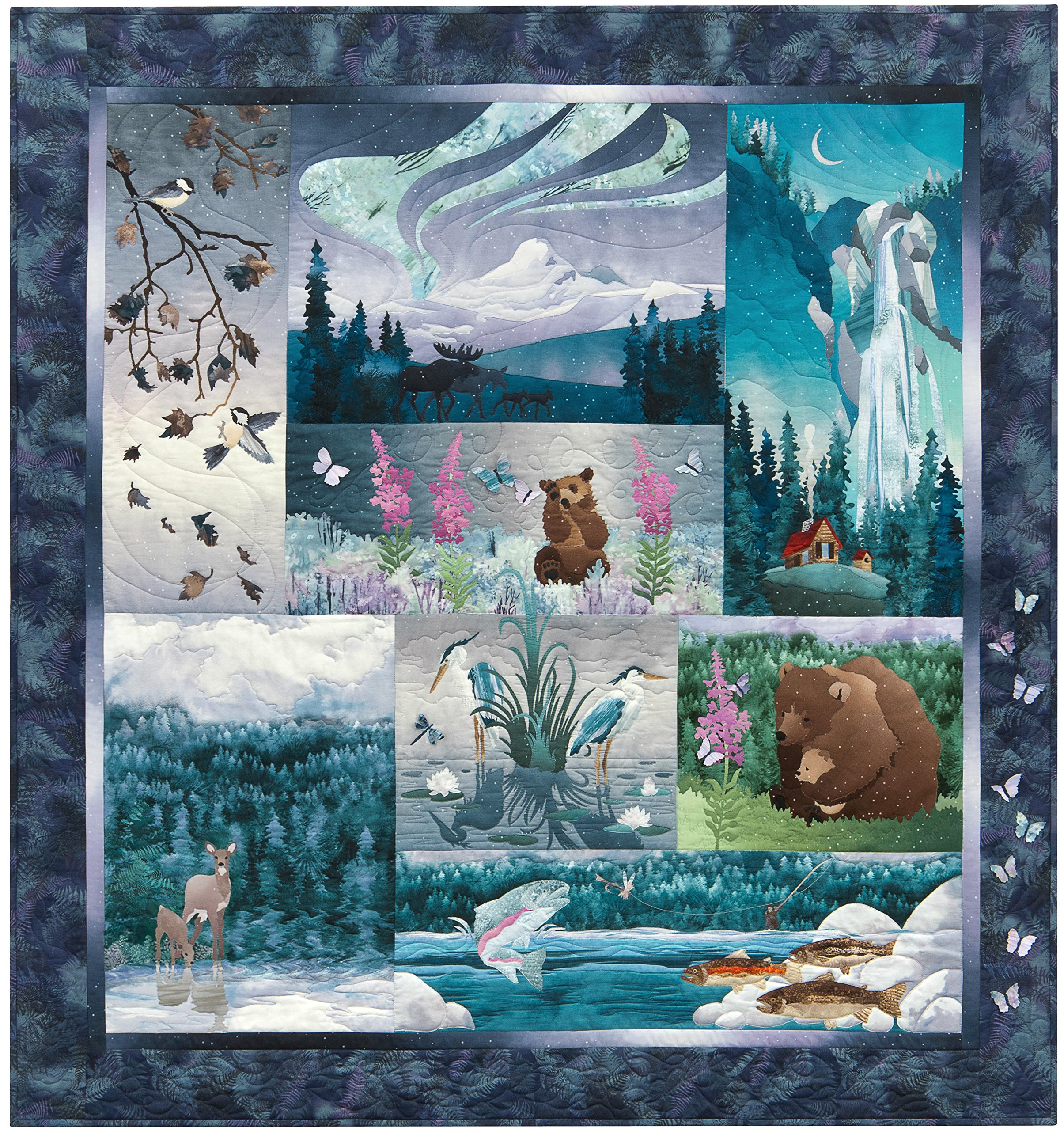 Aurora Ridge Quilt Kit by McKenna Ryan, Laser-cut and Pre-fused Applique by McKenna Ryan
