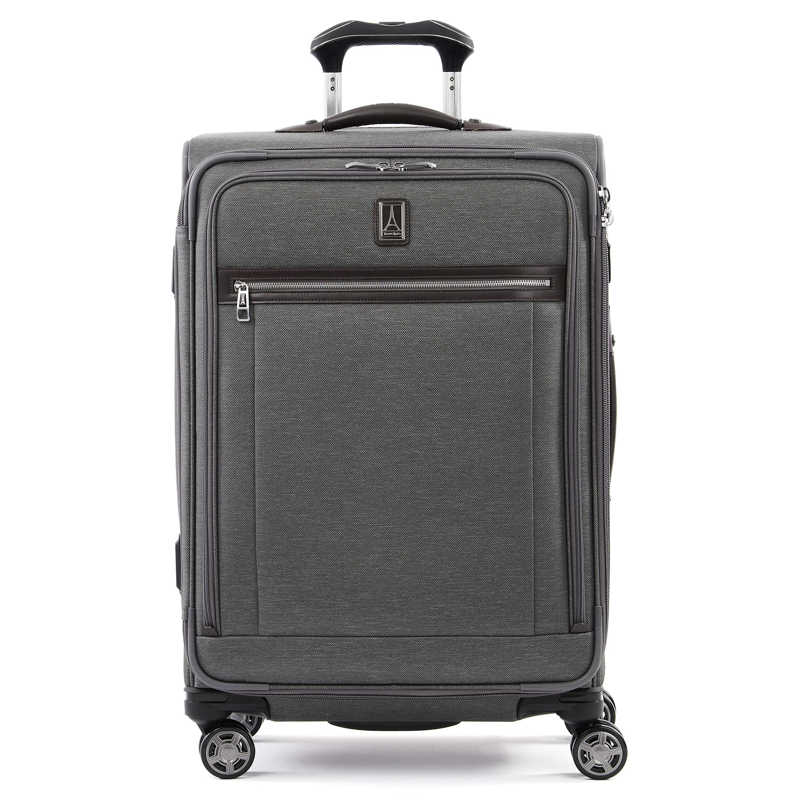 Travelpro Luggage Platinum Elite 25'' Expandable Spinner Suitcase w/Suiter, Vintage Grey