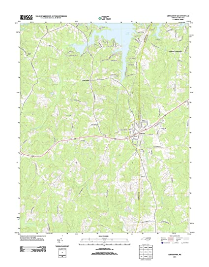Amazon Com Topographic Map Poster Littleton Nc Tnm Geopdf 7 5x7