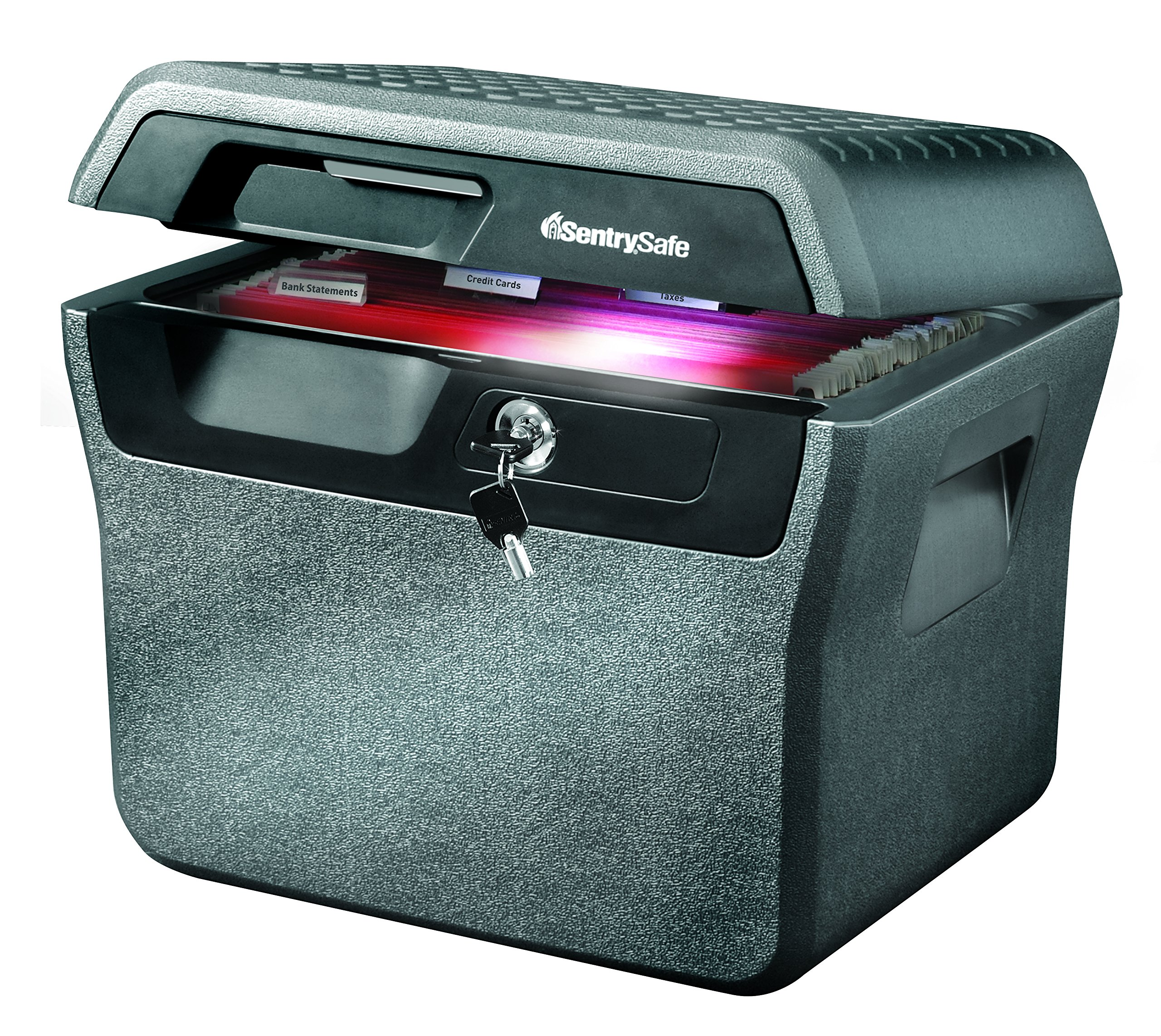 SentrySafe Fire and Water Safe, Fire and Water Resistant File Safe with Interior LED Light, 0.66 Cubic Feet, FHW40202