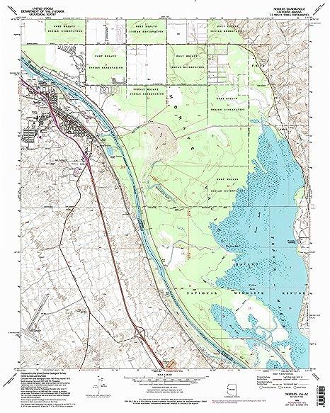 Amazon Com Yellowmaps Needles Ca Topo Map 1 24000 Scale 7 5 X