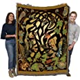 Woodland Fox and Forest Animals - Celtic - Jen Delyth - Cotton Woven Blanket Throw - Made in The USA (72x54)