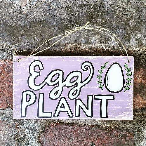 Egg Plant Wood Pallet Sign, Chicken Coop Sign, Hen House Sign, Pallet Sign