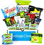 Healthy College Care Package (20 Count) - Granola bars, fruits snacks, popcorn, veggie chips, and more! CollegeBox Variety Assortment Bundle