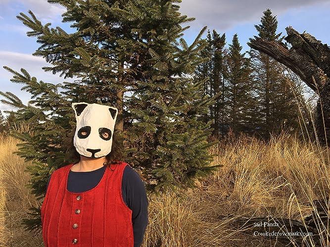 Amazon com: Paper animal masks, Sad Panda, for masked ball