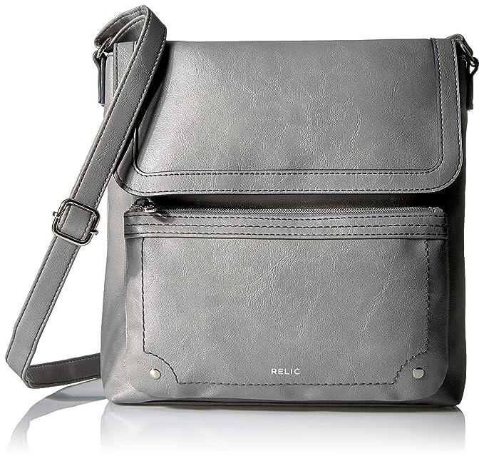 71c9c73f1eb Relic Evie Flap Crossbody, Smoke: Amazon.ca: Clothing & Accessories