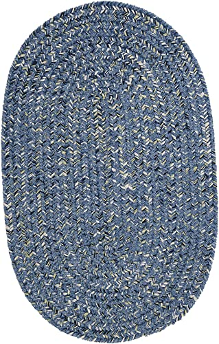 West Bay Area Rug, 3 by 5-Feet, Blue Tweed