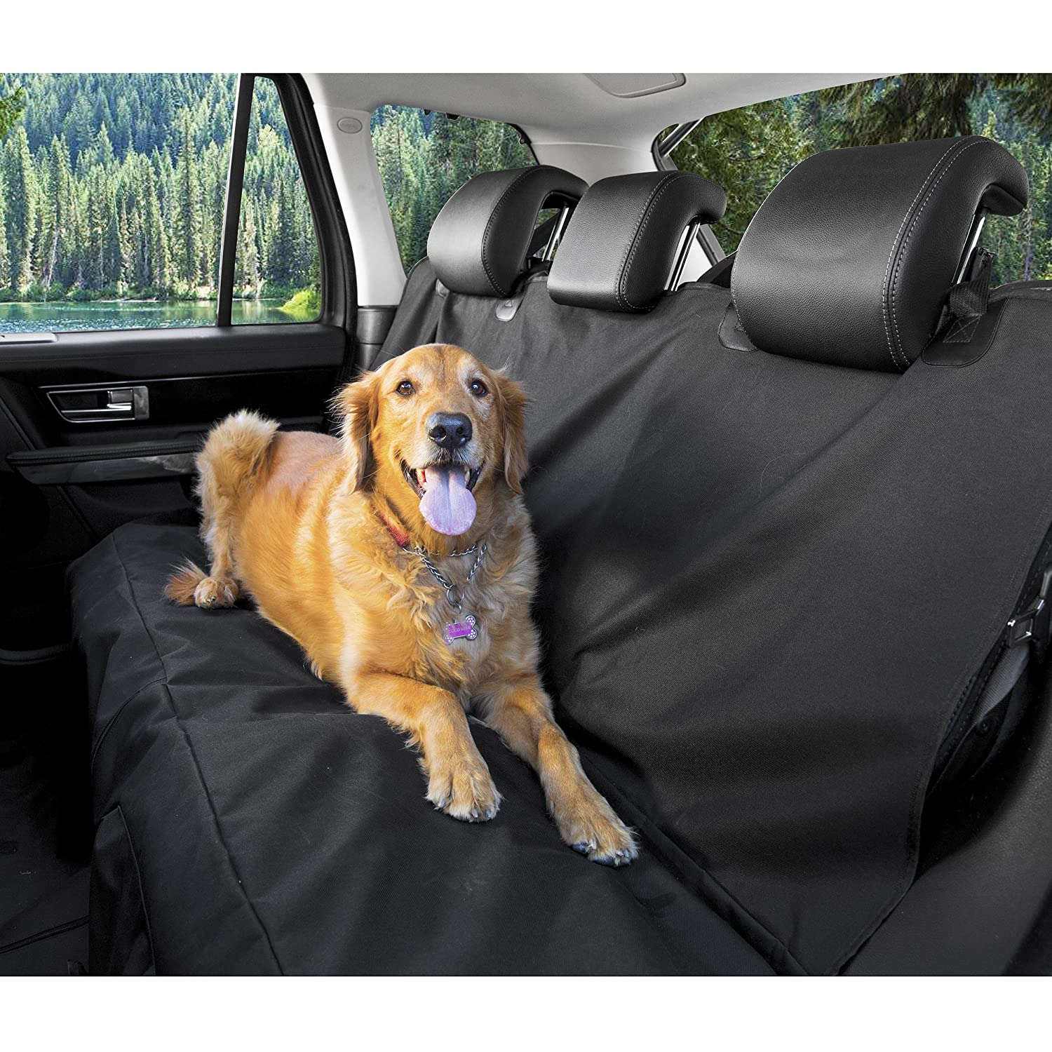 hammock products seat travel home dog furhaven black quilted pet cover carseatcover car
