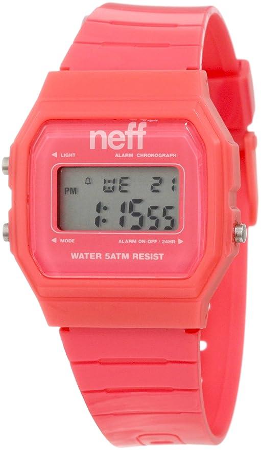 Neff F11704 - Pink - Reloj de Pulsera Hombre, Poliuretano, Color Rosa
