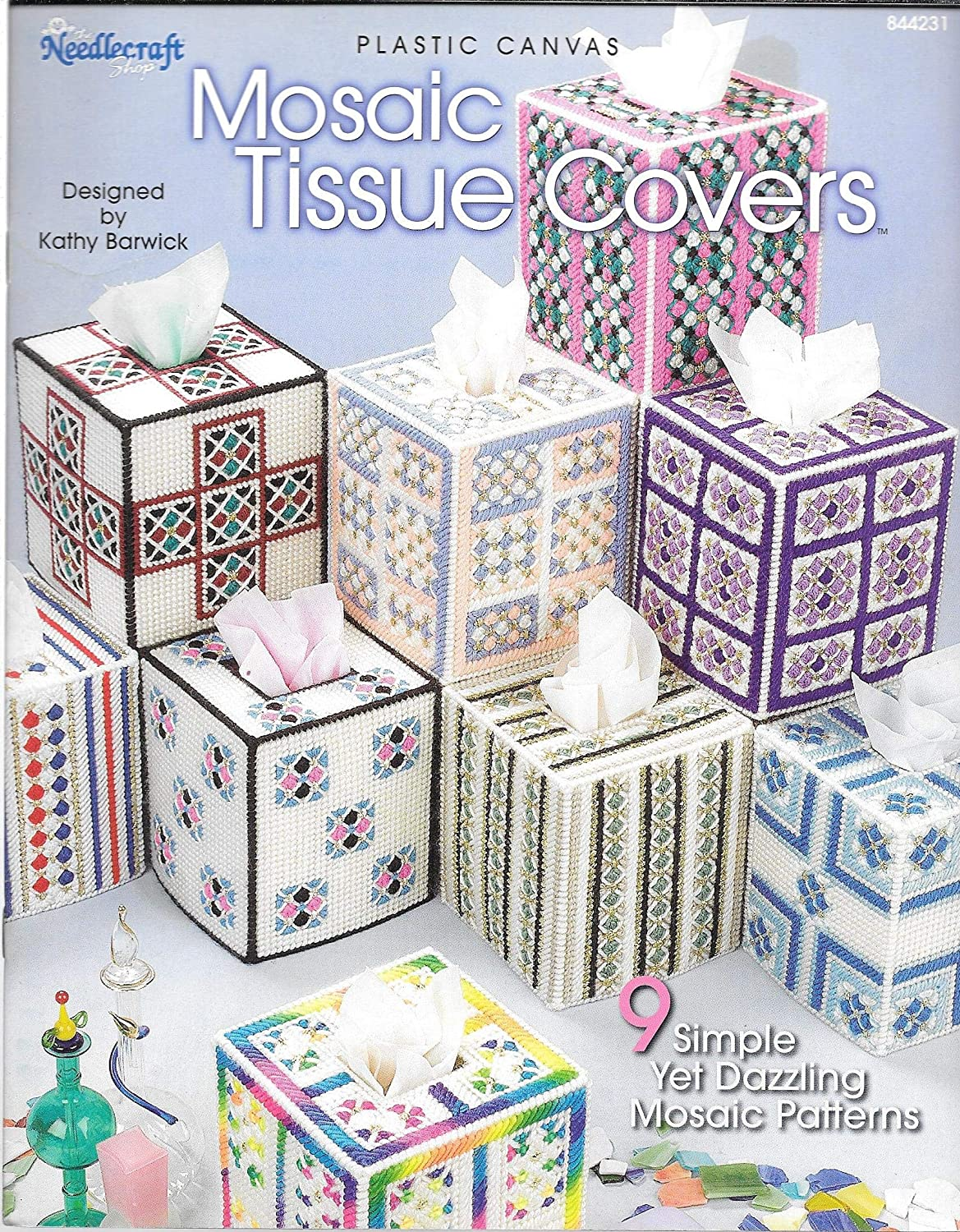 Amazon Com Plastic Canvas Mosaic Tissue Covers By The Needlecraft Shop Leaflet 844231 9 Simple Yet Dazzling Mosaic Patterns,Modern Interior Design For Medicine Retail Shop