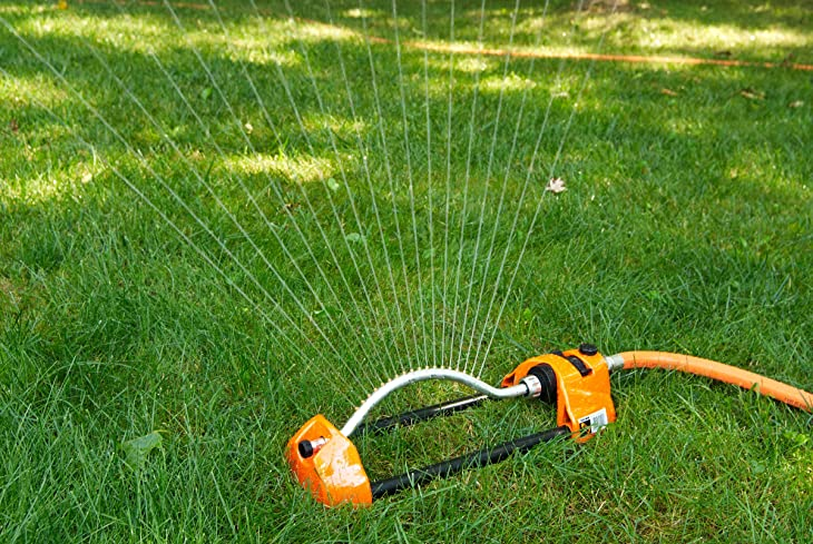 Dramm 15001 ColorStorm Premium Metal Oscillating Sprinkler with Brass Nozzle Jets