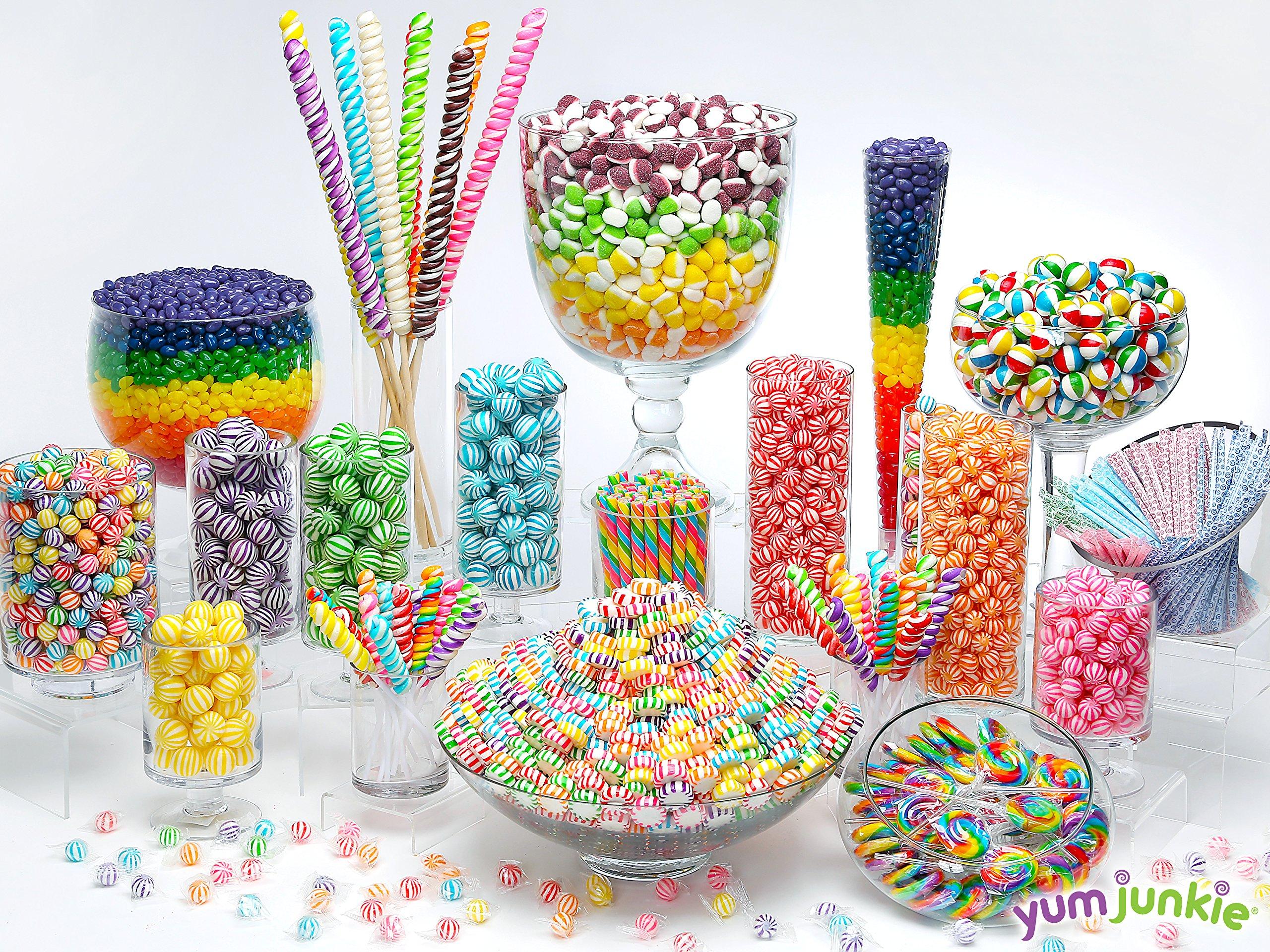 Swipple Pops Petite Swirl Ripple Lollipops - 60-Piece Tub (Rainbow) by YumJunkie