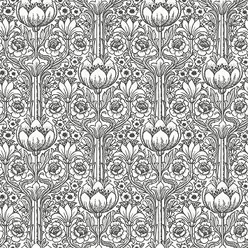 Black White Style Art Nouveau 6086 Nostalgisches Papier Peint