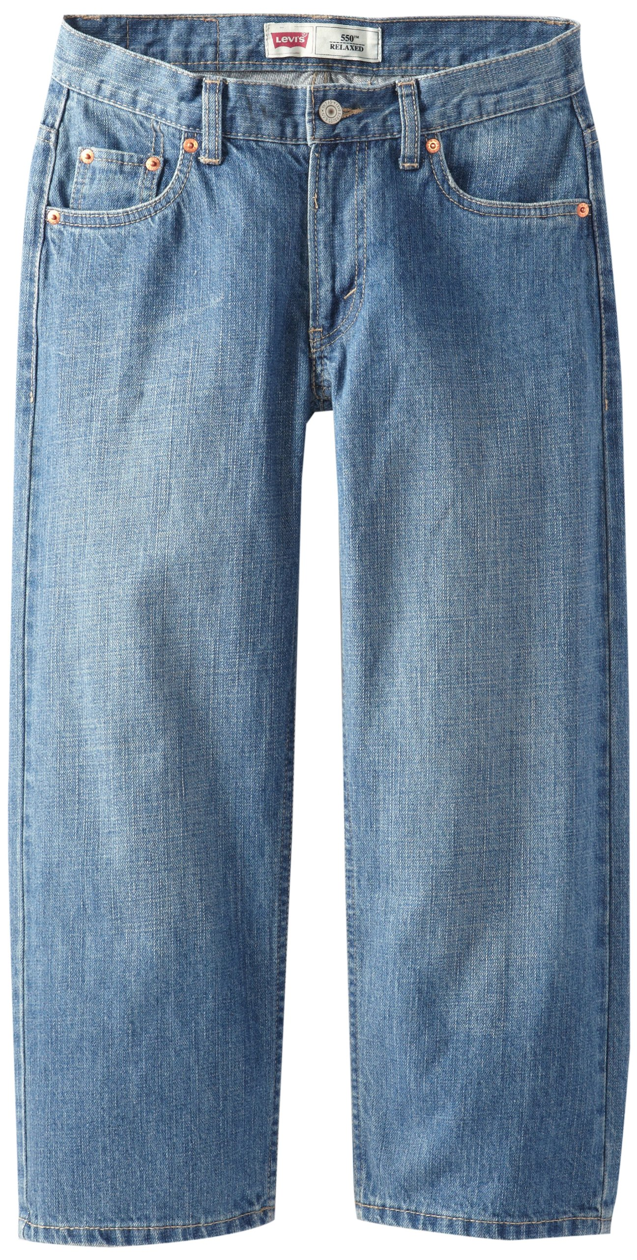 Levi's Boys' Big 550 Relaxed Fit Jeans, Catapult, 18 Husky by Levi's