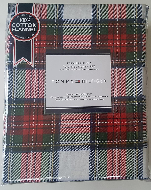 Amazon Com Tommy Hilfiger Flannel Duvet Cover Set Full Queen 3 Pc