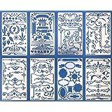 Aleks Melnyk #42 Metal Journal Stencils/Flowers and Vines, Ornament, Vintage, Finds Small Stencils Patterns, Templates…