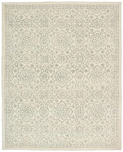 Stone Beam Contemporary Doily Wool Farmhouse Area Rug, 4 x 6 Foot, Ivory