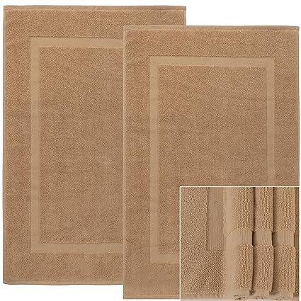 Amazon.com: Alurri Bath Mat   2 pack - Machine Washable  100% Cotton ...
