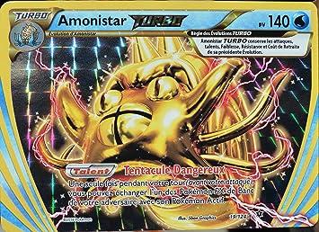 Amonistar TURBO 140pv 19//124 Carte Pokemon XY Impact des Destins Ultra Rare neuv