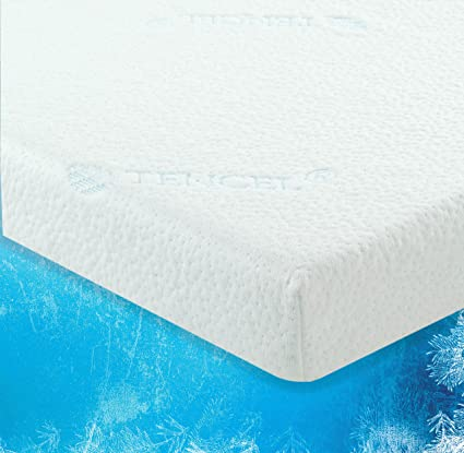 buy online cc2cd 52ccd LuxLiving 2.5 Inch Cooling Gel Infused Memory Foam Mattress Topper with  Removable & Washable Zippered Tencel Cover - Certipur Certified - SELF ...
