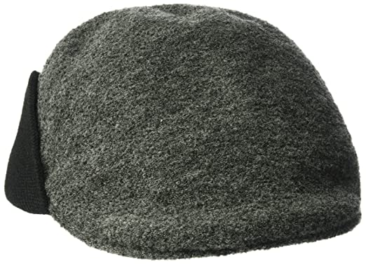 97b7c907e92 Kangol Men s Boiled Wool Earlap 507  Amazon.in  Clothing   Accessories